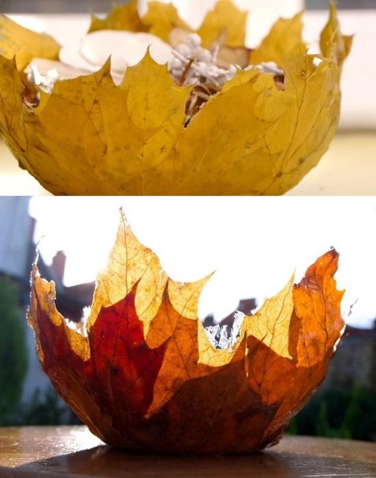 Making a Leaf Bowl
